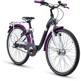 s'cool chiX 24 3-S alloy Kinder darkgrey/violett matt